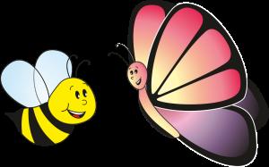 abeja y mariposa4