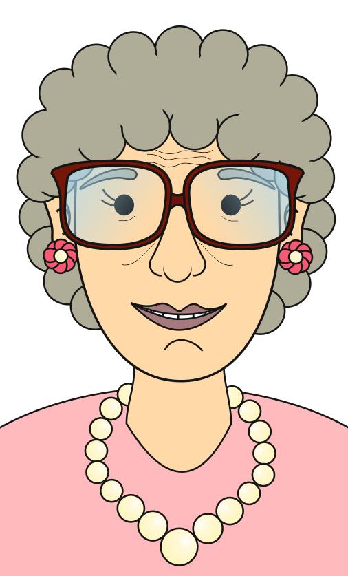 Dibujos de caras de abuelo - Imagui