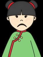 niña chinita triste