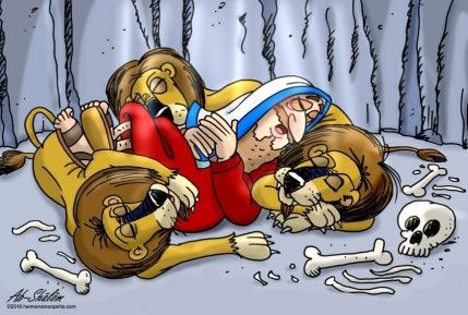 Daniel y leones F